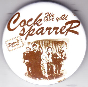 COCK SPARRER - WE LOVE YOU BUTTON / BOTTLE OPENER / KEY CHAI