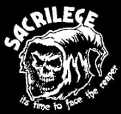 SACRILEGE - IT'S TIME TO FACE THE REAPER BACK PATCH