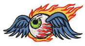 EMBROIDERED PATCH - REED FLAMING EYEBALL PATCH