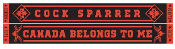 COCK SPARRER - CANADA BELONGS TO ME SCARF