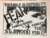 FEAR / CHINA WHITE / CHIEFS POSTER