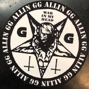 GG ALLIN - WAR IN MY HEAD SLIPMAT