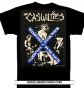 CASUALTIES - HARDCORE PUNK ROCK TEE SHIRT