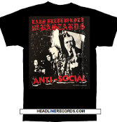 LARS FREDERIKSEN & THE BASTARDS - ANTI SOCIAL TEE SHIRT