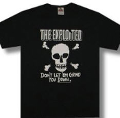 EXPLOITED - DON'T LET YOU GRIND YOU DOWN TEE SHIRT