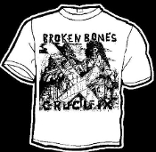 BROKEN BONES - CRUCIFIX TEE SHIRT