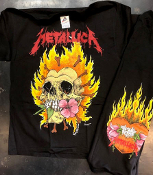METALLICA - BURNING FLOWER (PUSHEAD) TEE SHIRT