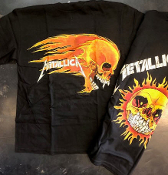 METALLICA - FLAMING SKULL (PUSHEAD) TEE SHIRT