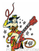 VINCE RAY - GUITAR GIRL STICKER