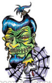 VON FRANCO STICKER - SHRUNKEN HEAD
