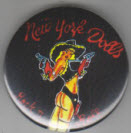 NEW YORK DOLLS - COWGIRL BUTTON / BOTTLE OPENER / MAGNET