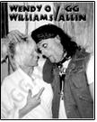GG ALLIN & WENDY O WILLIAMS - PICTURE POSTER