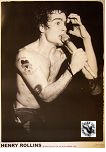 BLACK FLAG - HENRY ROLLINS 100 CLUB 1983 POSTER