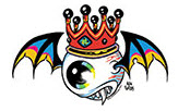 ALAN FORBES STICKER - FLYING EYEBALL