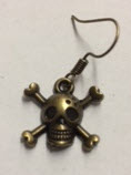 EARRING - SMALL CROSS BONES WITH SKULL # 3