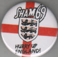 SHAM 69 - HURRY UP ENGLAND BUTTON / BOTTLE OPENER / KEY CHAIN /