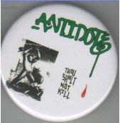 ANTIDOTE - THOU SHALT NOT KILL BUTTON / BOTTLE OPENER / KEY