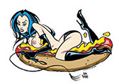 ALAN FORBES STICKER - WEINER GIRL
