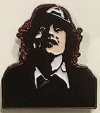 AC/DC - ANGUS YOUNG ENAMEL PIN BADGE