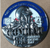 COMBAT 84 - ORDER OF THE DAY ENAMEL PIN BADGE