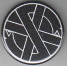 CRASS - LOGO BUTTON PIN / BOTTLE OPENER / KEY CHAIN / MAGNET