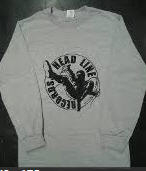HEADLINE RECORDS CLASSIC LOGO (GREY) LONG SLEEVE TEE SHIRT