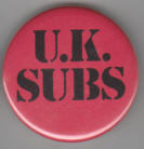 UK SUBS - UK SUBS BUTTON PIN / BOTTLE OPENER / KEY CHAIN / MAGNE